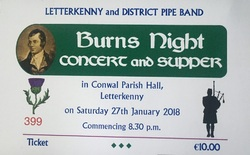 Letterkenny Pipe Band Annual Burns Night picture