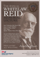 Join us for the Annual Whitelaw Reid Memorial Lecture on Wednesday 28th March